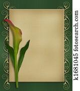 Calla Lily Invitation card template