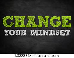 CHANGE YOUR MINDSET - chalkboard concept