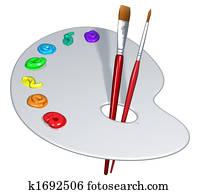 Isolated artist palette