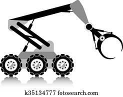 Robotic Clipart And Illustration 23 758 Robotic Clip Art Vector Eps