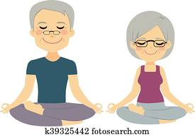 Yoga Senior Couple