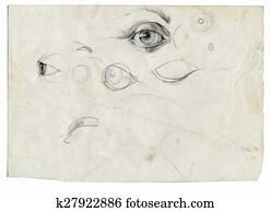 an hand drawing - eyes