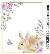frame easter bunny