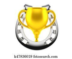 Horseshoe with trophy