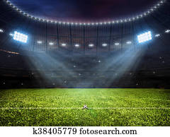 Soccer football stadium with floodlights