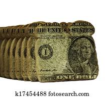 Bread slices with dollars