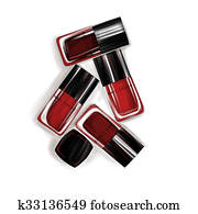 Illustration of nail polish bottles