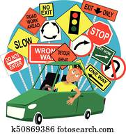 Student Driver Clipart   tn_studentdriver_c   Fotosearch