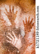 Ancient cave paintings.
