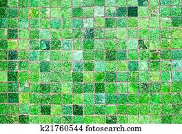 Groene Mozaiek Tegels : Beelden groene mozaïek tegels boven bad in hippe badkamer