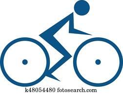 Cycling race Vector logo.