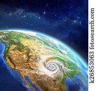 Hurricane over the Earth