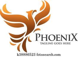 phoenix bird logo concept
