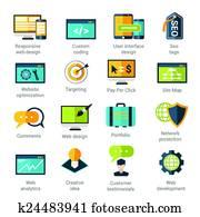 webentwicklung, heiligenbilder, satz