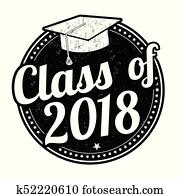 klasse, von, 2018, briefmarke