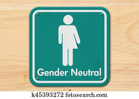 Transgender sign with text Gender Neutral