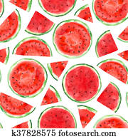 pattern with watermelon