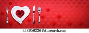 romantisches abendessen, valentines tag