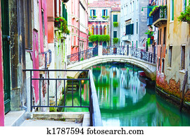 Bridge and canal in Venice