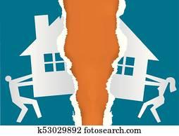 Division of property at divorce.