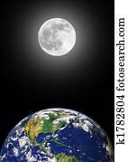 Earth and Moon Beauty