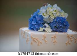 Stock Fotografie Blau Weiss Hochzeitsblumen K19246981 Suche