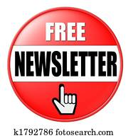 free newsletter button red
