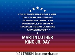 martin luther king, jr, tag, feiertag, vektor, hintergrund, -, inspirational, notieren