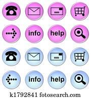 online shop - buttons