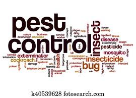 Pest control word cloud