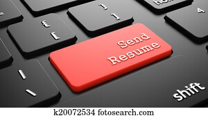 Send Resume on Red Keyboard Button.