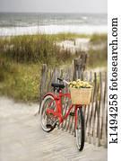 Bike at beach.