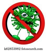 Stop Virus Sign