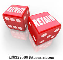 Recruit and Retain 2 Red Dice Attract Job Candidate Hire Reward Keep Workers