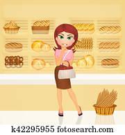 girl in the bakery