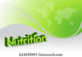 nutrition sign illustration design