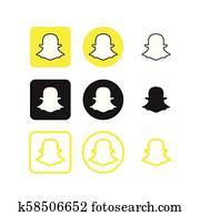 Snapchat social media icons