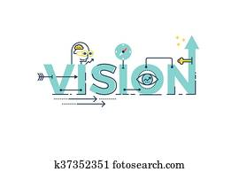 Vision word lettering