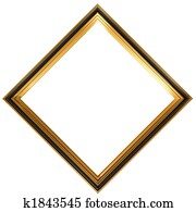 Diamond shaped antique picture frame