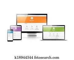 interessiert, webentwicklung, in, flache
