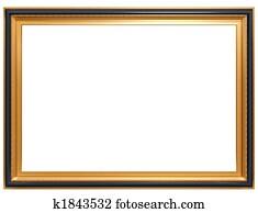 Rectangular antique picture frame