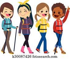 Hiking Girls Friends