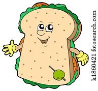 Cartoon sandwich