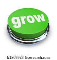 Grow Button - Green