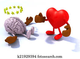 Heart fighting brain