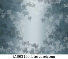 Ivy on teal blue satin background