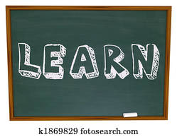 Learn Word on Chalkboard