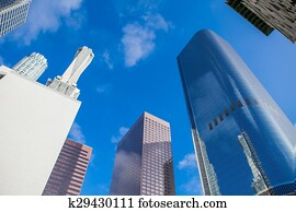 Architecture blueprints skyscraper High Resolution Skyscrapers In Downtown La Los Angeles Fotosearch Stock Photography Of Business Silhouettes Backgrounds