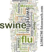 Swine flu wordcloud