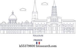 Toulouse City Skyline, France